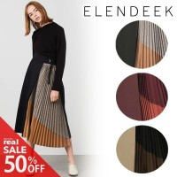 【SOLD OUT】\SALE50%OFF/ELENDEEK エレンディーク/TOP PLEATS COMBI SK 511940821001