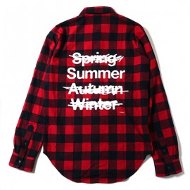 NEW ONLY SUMMER FLANNEL CHECK SHIRTS (レッド)