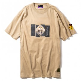 DAMAGED RATIO S/S T-Shirt by Subciety (BEIGE(第10の使徒))