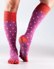 Grip Full Toe Scrunch Poppy Polka Medium
