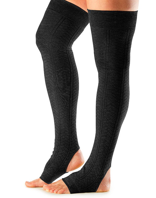 Leg Warmers Open Heel Black One Size