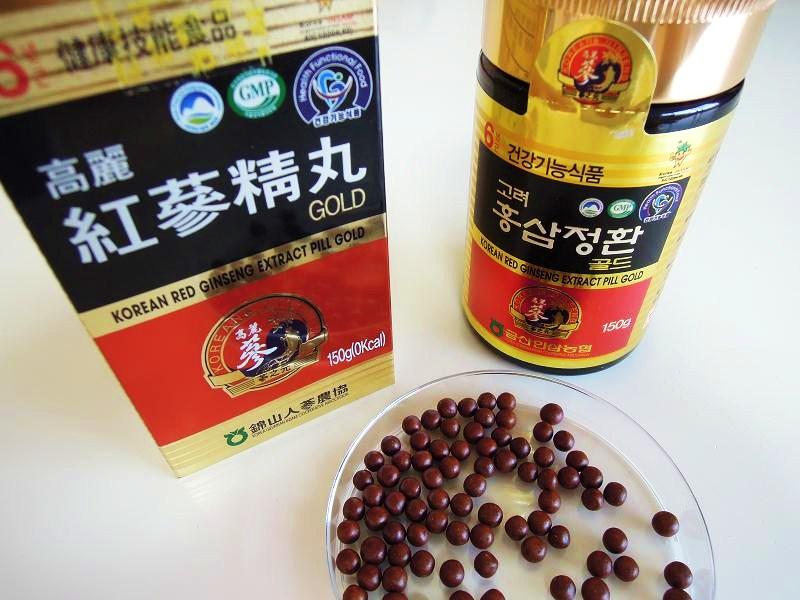 高麗人参(紅参)の濃縮液を材料とした丸剤