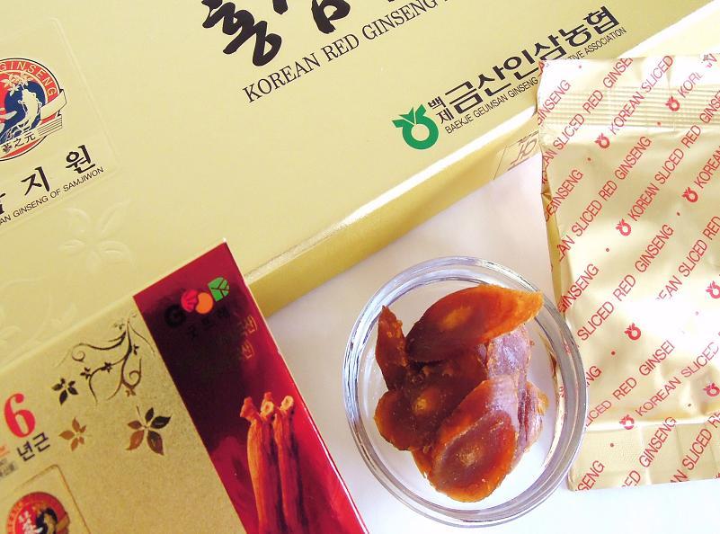 高麗人参(紅参)の蜂蜜漬け
